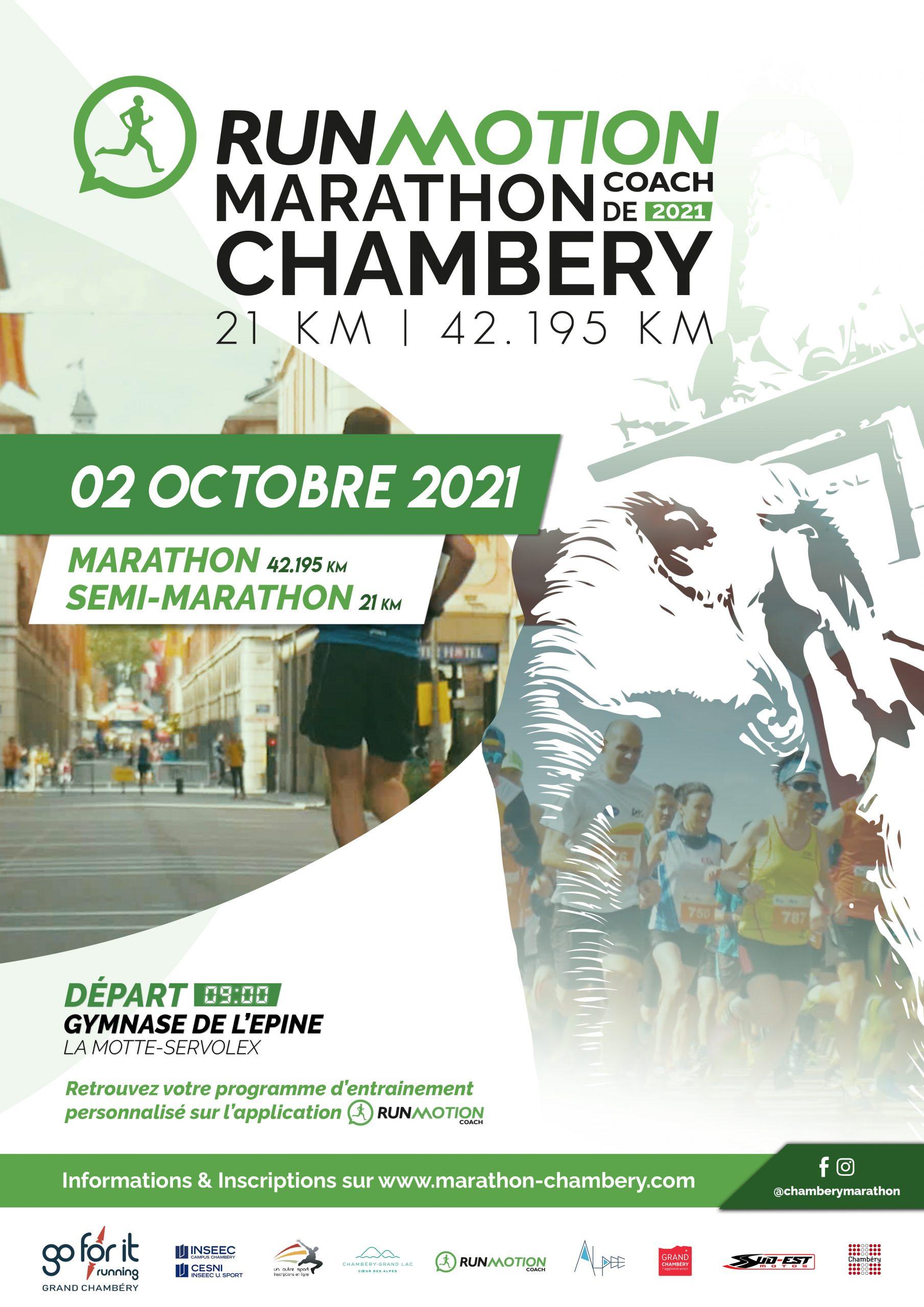 Run Motion Coach Marathon de Chambéry – 2 Octobre